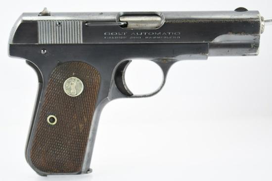 1928 Colt, Model 1908 Pocket Hammerless, 380 ACP Cal., Semi-Auto, SN - 88030