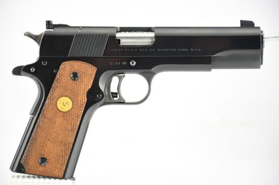 1961 (FIRST YEAR) Colt, M1911 National Match, 38 Spl. Wadcutter Cal., Semi-Auto, SN - 3244-MR