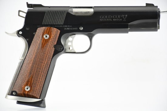 "1981 Colt, M1911 Gold Cup National Match ""Series 70"", 45 ACP Cal., Semi-Auto, SN - 70N96849"