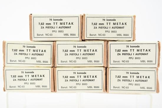 560 Rounds Of 7.62×25mm Yugo Tokarev Ammunition