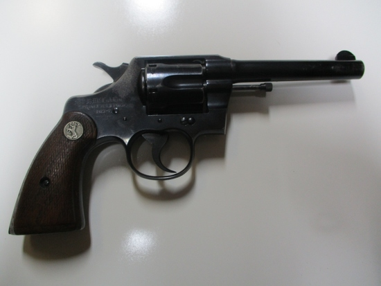 Colt mod. Army Special 38 SPCL cal revolver engraved w/name & SPRINGFIELD P
