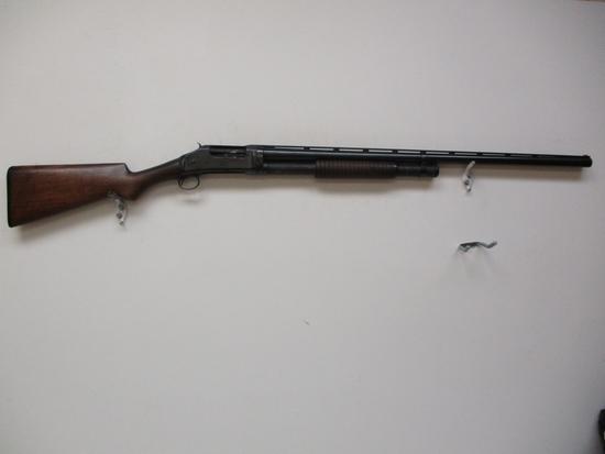 Winchester mod. 1897 12 ga pump shotgun full choke vent rib bbl ser # E5807