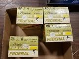 3 bx 6 shot/ 1 bx 8 shot  Federal 20 ga 2-3/4