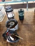 Propane bottle, lantern, camp stove