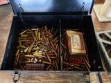 Snap-on metal box w/misc loaded bullets