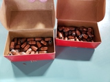 2 partial boxes Hornady .38 cal HP bullets
