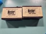 1full/1 partial box Nosler 44 cal .429-24 gr HP bullets