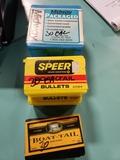2 bx. Speer 30 cal (.308) 1.65 gr. bullets, 1 bx. Speer 30 cal (308) 1.50 gr BTSP, 1 Midway 30 carbi