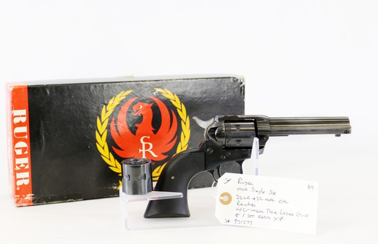 Ruger mod Single Six 22 LR+ 22 mag cal revolver