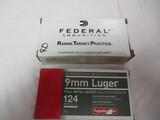1 bx Federal 9mm Luger, 1 bx Aguila 9mm Luger