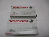 2 bx Winchester 45 auto - 230 grain