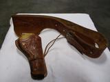 Hand tooled leather gun belt 38/40