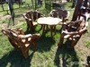 TEAKWOOD TABLE W/4 CHAIRS