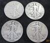 Lot of 4 Walking Liberty Silver Half Dollars  1943-S, 1944, 1945, 1947-D