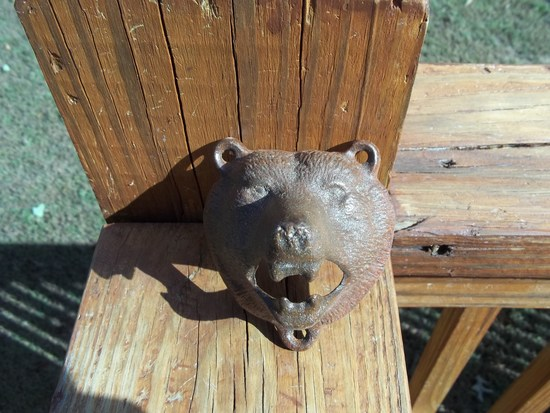 Cast Iron Wall Mount Bear Head Bottle Beer Opener