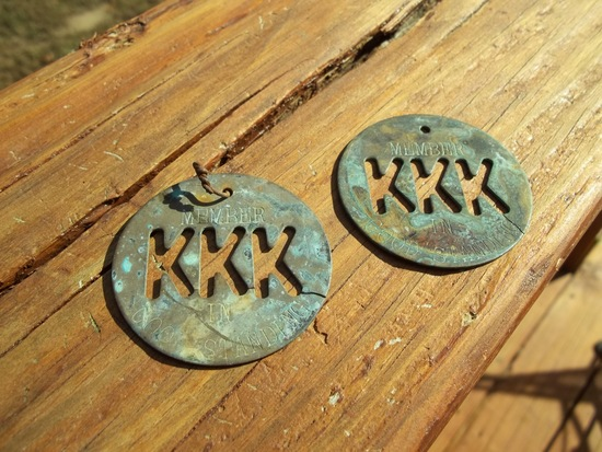 Two Brass KKK Ku Klux Klan Member In Good Standing Tokens