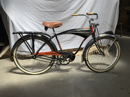 1954 Schwinn Black Phantom Bicycle