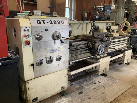 2008 GMC GT 2080 Lathe Newall C80 Digital Readout