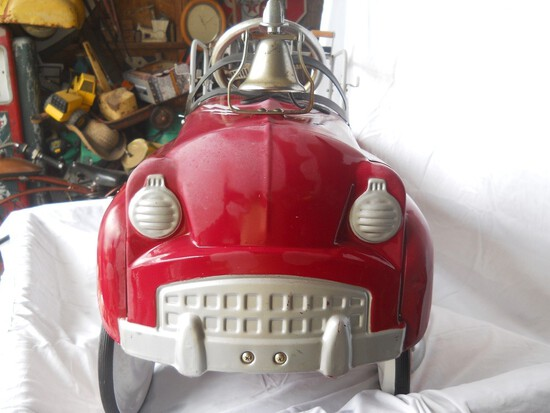Red Fire Truck Pedal Car