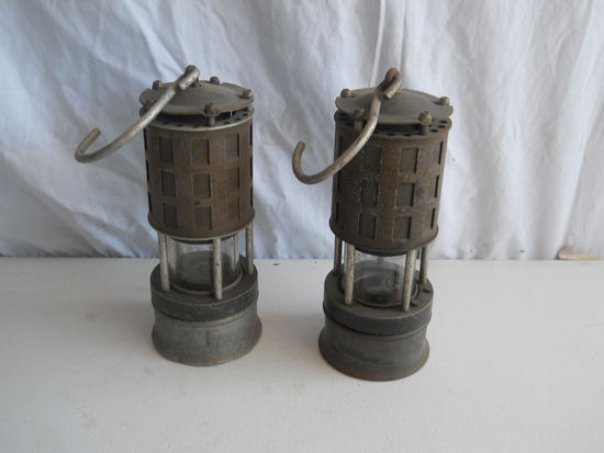 Carbide Mining Lamps Lot of 2