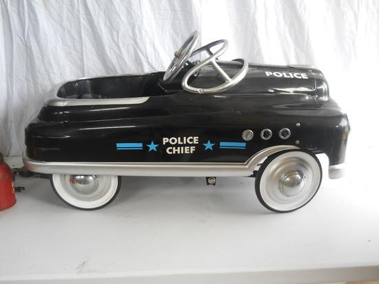 Black Police Chief Pedal Car