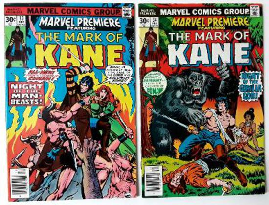 THE MARK OF KANE - Set of 2 - Marvel Premiere