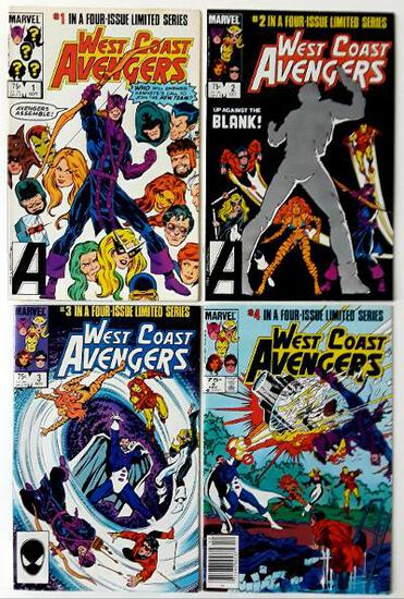WEST COAST AVENGERS - Limited Series Complete Set of 4 - Marvel Comics