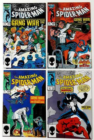THE AMAZING SPIDER-MAN:  Gang War Parts One thru Four - Set of 4 - Marvel Comics