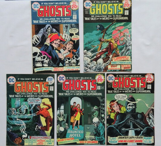 GHOSTS:  Set Of 5 Comics - DC Comics