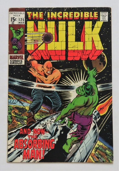 "THE INCREDIBLE HULK:  ""And Now The Absorbing Man!"" - Marvel Comics"