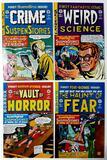 CRIME SUSPENSTORIES, WEIRD SCIENCE, VAULT OF HORROR & HAUNT OF FEAR - 4 First Issues - EC Comics