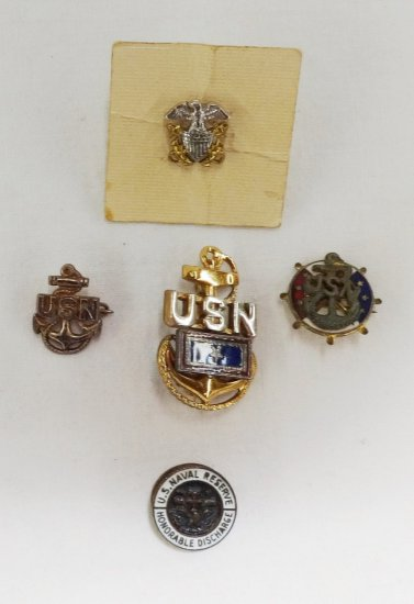 5 Pieces WWII Period USN Sweetheart Pins
