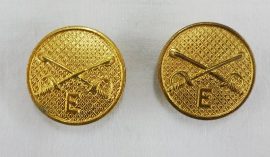 2 Pieces Pre WWII Enlisted Cavalry Collar Disks