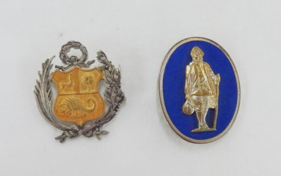 2 Pieces WWII Period/Earlier Unknown Badges