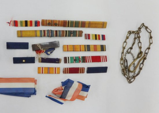 Nice Lot WWII and Earlier US Ribbon Bars, Etc.