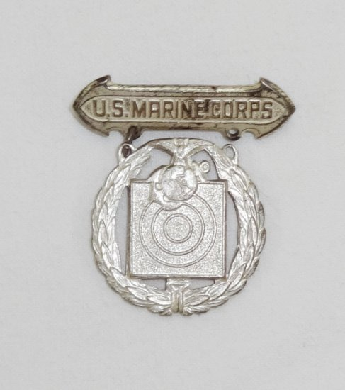 Early WWII USMC Marksman Medal-Sterling