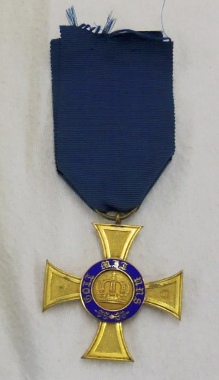 Scarce Prussian Royal Order Of The Crown 4th Class Medal