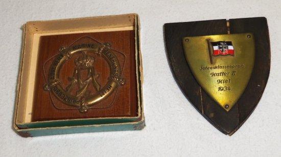 2pcs-WW1/Pre WW2 German Naval Miniature Plaques