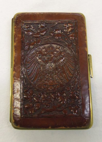 WW1 Imperial/Prussian/Austrian-Embossed Leather Money Holder/Calling Card Case
