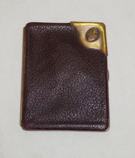WW1 Imperial/Prussian/Austrian-Leather Money Holder/Calling Card Case-Dated 1911