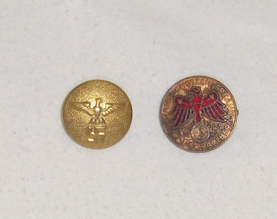 2pcs-WW2 German Political Leader Tunic Button-Tirol Shooting Pin
