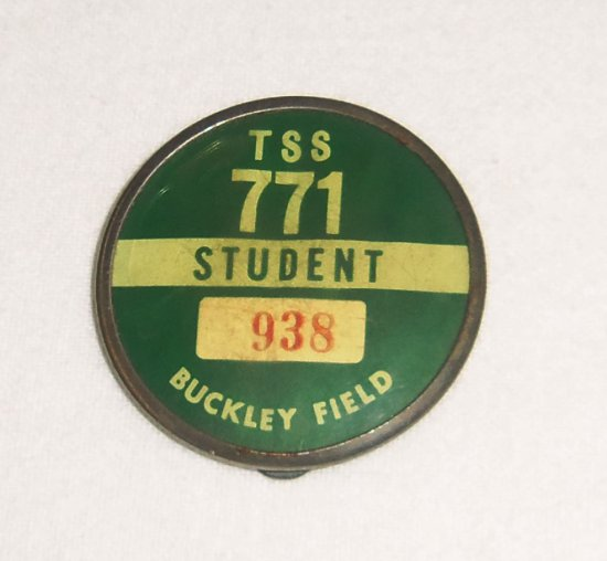 WWII Buckley Field TSS Student ID Badge
