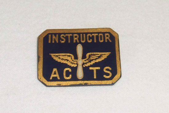 WWII Air Corp Training School Instructor Badge