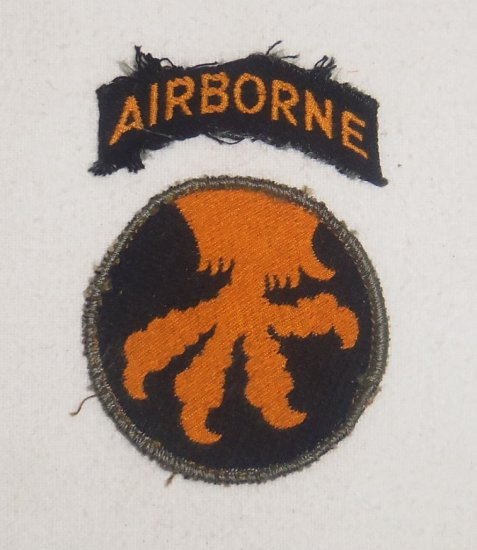 WWII 17th Airborne Division Patch With Tab