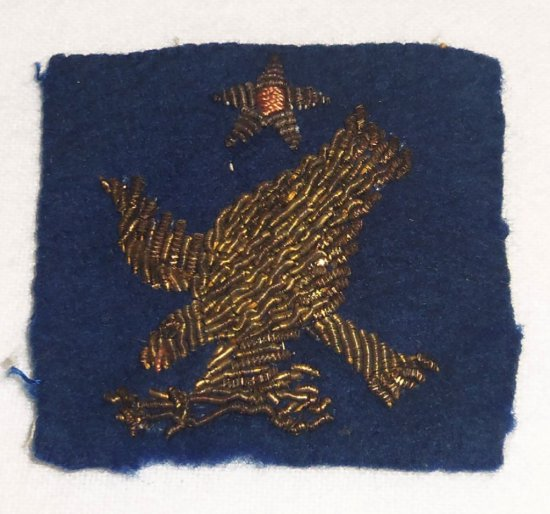WWII 2nd Army Air Corps Patch In Bullion