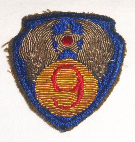 Ninth Army Air Corp Bullion Patch