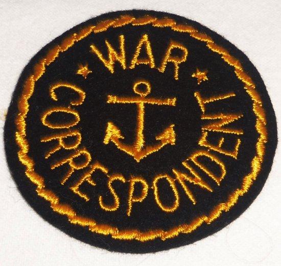WWII USN War Correspondent Patch