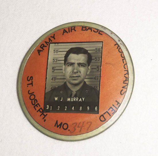 WWII Rosecrans Field Army Air Base Employee ID Badge