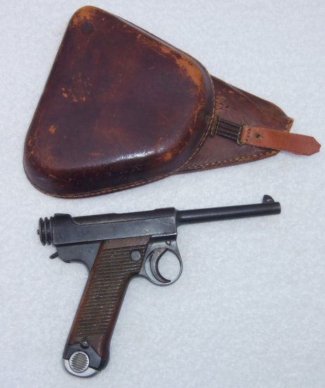Scarce Early Japanese Type 14 Nambu Pistol With Holster