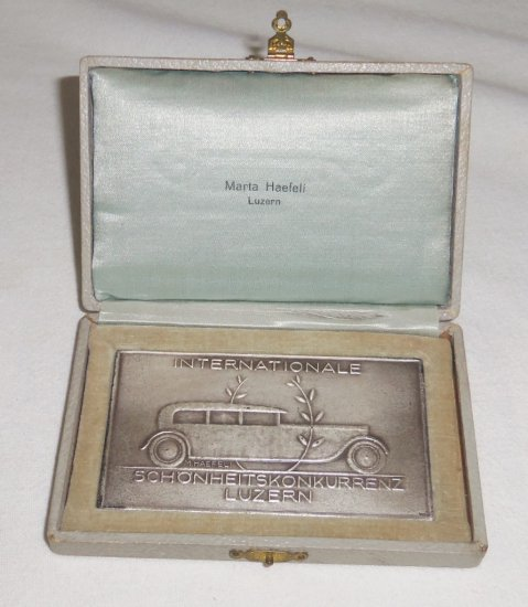 International Concours d'Elegance Automobile Plaque